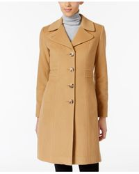 Anne Klein - Natural Wool-blend Walker Coat - Lyst