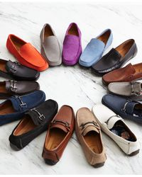Alfani - Blue Marcus Tumbled Drivers, Created For Macy's for Men - Lyst