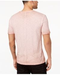 Buffalo David Bitton - Pink Embroidered Patch T-shirt for Men - Lyst