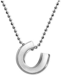 Alex Woo - Metallic Little Luck Horse Shoe Pendant Necklace In Sterling Silver - Lyst