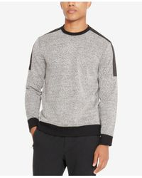 Kenneth Cole Reaction - Black Men's Colorblocked Textured Sweatshirt for Men - Lyst
