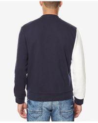 Sean John - Blue Men's Paneled Colorblocked Sweatshirt for Men - Lyst