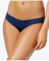 DKNY - Blue Litewear Low-rise Mesh-trim Bikini Dk5002 - Lyst