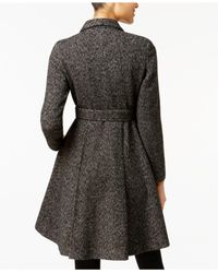 Ivanka Trump - Black Shawl-collar Skirted Walker Coat - Lyst