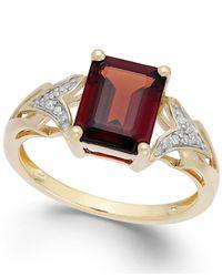Macy's - Metallic Garnet (2-1/2 Ct. T.w.) And Diamond Accent Ring In 14k Gold - Lyst