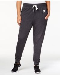 4cf9688ad3fe1 Lyst - Nike Plus Size Sweatpants in Gray