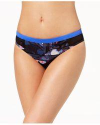 e1384c164059b Women's Blue Juniors' Keep It Scooter Printed Mesh-side Bikini Bottoms