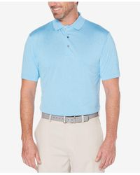 PGA TOUR - Blue Heathered Golf Polo Shirt for Men - Lyst
