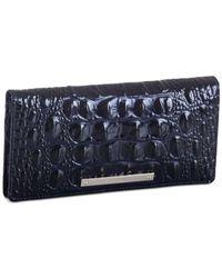 Brahmin - Blue Ady Melbourne Embossed Leather Wallet - Lyst