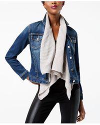 INC International Concepts | Blue Sweater-collar Denim Jacket | Lyst