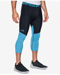 Under Armour - Blue Men's Heatgear® Colorblocked Steph Curry Cropped Compression Leggings for Men - Lyst