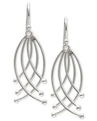 Giani Bernini - Metallic Crisscross Ribbon Drop Earrings In Sterling Silver - Lyst