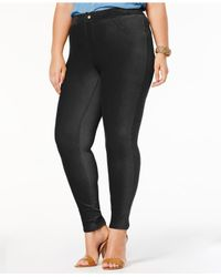 Hue - Black Women's Plus Size Corduroy Leggings - Lyst
