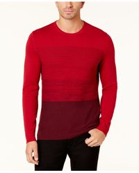 Alfani - Red Men's Colorblocked Sweater for Men - Lyst
