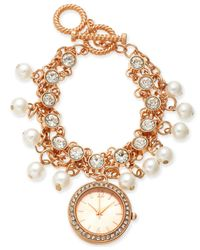 Charter Club - Metallic Rose Gold-tone Toggle Bracelet Watch 36mm, Created For Macy's - Lyst
