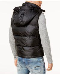 G-Star RAW | Black Men's Whistler Hooded Vest for Men | Lyst