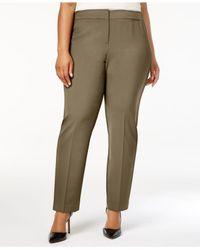 Nine West - Brown Plus Size Career Pants - Lyst