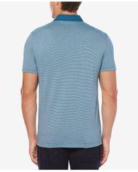 Perry Ellis - Blue Men's Thin-striped Polo for Men - Lyst