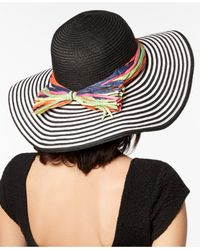 Betsey Johnson - Black Stripe Me Over Floppy Hat - Lyst