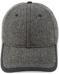 Original Penguin - Gray Herringbone Baseball Cap for Men - Lyst