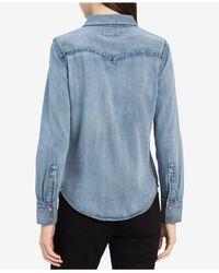Calvin Klein - Blue Cotton Denim Shirt - Lyst