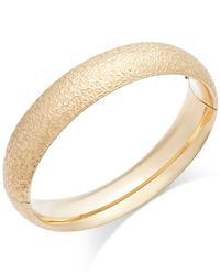 Macy's - Metallic Crystal-cut Hinge Bangle Bracelet In 14k Gold - Lyst