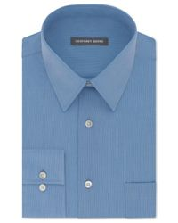 Geoffrey Beene | Blue Men's Classic/regular Fit Wrinkle Free Solid Dress Shirt for Men | Lyst