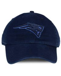 47 Brand - Blue New England Patriots Triple Rush Clean Up Cap for Men - Lyst