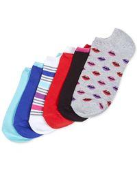 Hue - Multicolor 6-pk. Cotton No Show Socks - Lyst
