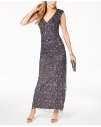 Adrianna Papell - Multicolor Beaded Gown - Lyst