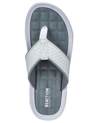 Kenneth Cole Reaction - White Go Four-th Thong Sandals - Lyst