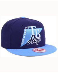 KTZ - Blue Tampa Bay Rays Logo Stacker 9fifty Snapback Cap for Men - Lyst