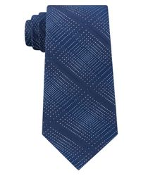 Kenneth Cole Reaction - Blue Men's Optical Texture Plaid Silk Tie for Men - Lyst