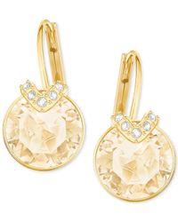 Swarovski - Metallic Bella Pierced V Earrings - Lyst