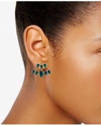 RACHEL Rachel Roy - Green Gold-tone Colored Stone Jacket Earrings - Lyst