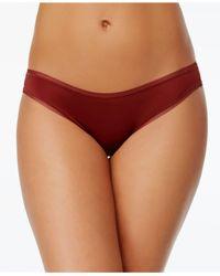 DKNY - Red Litewear Low-rise Mesh-trim Bikini Dk5002 - Lyst