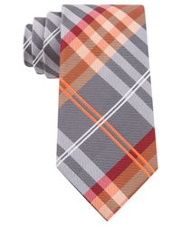 Geoffrey Beene - Orange Petros Plaid Ii Tie for Men - Lyst