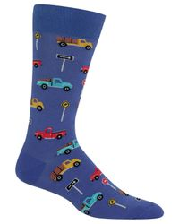 Hot Sox | Blue Men's Pick-up Truck Socks for Men | Lyst