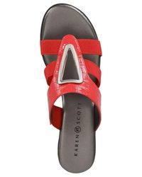 Karen Scott - Red Engle Sandals, Created For Macy's - Lyst