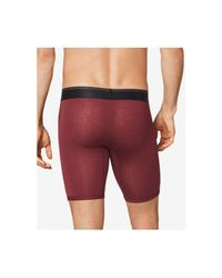 Tommy John - Red Second Skin Hawthorne Printed Boxer Briefs for Men - Lyst