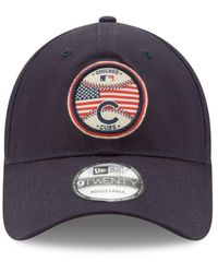 KTZ - Blue Americana Patch 9twenty Strapback Cap for Men - Lyst