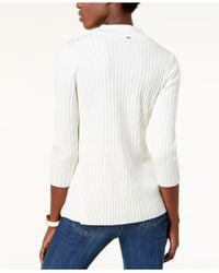 Tommy Hilfiger - White Mock-neck Sweater - Lyst