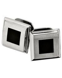 Macy's - Multicolor Stainless Steel Studs Set, Black Enamel Set Of Four Studs for Men - Lyst