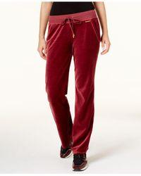 Michael Kors - Red Velour Drawstring Sweatpants - Lyst