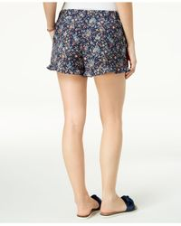 Maison Jules - Blue Ruffled-cuff Shorts, Created For Macy's - Lyst