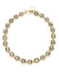 ABS By Allen Schwartz - Metallic Gold-tone Crystal Toggle Collar Necklace - Lyst