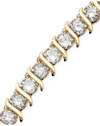 Macy's - Metallic Diamond Single-row Bracelet (5-1/3 Ct. T.w.) In 10k Gold - Lyst