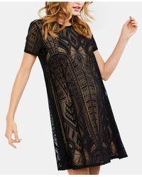 2f83049f8717d BCBGMAXAZRIA Maternity Textured A-line Dress in Black - Lyst