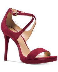 Michael Kors - Red Faryn Strappy Sandals - Lyst