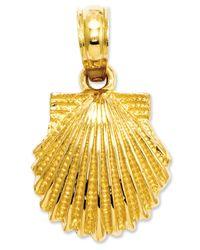 Macy's - Metallic 14k Gold Charm, Scallop Shell Charm - Lyst